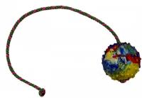 Мяч литой с веревкой