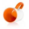 Кружка двухцветная с цветной ручкой