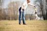 Мяч кожаный - с наполнением и лентами